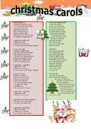 English Worksheets: cristmas carols
