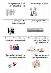 English Worksheet: AGREE DISAGREE SPEAKING ACTIVITY 2
