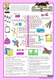 English Worksheet: Classroom objects and symbols Set  (9)  -  Basic school supplies