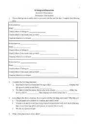 English Worksheet: Introduction to Globalization