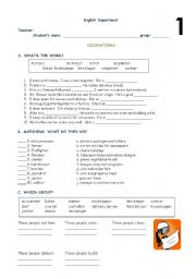 English Worksheets: Occupations: 1� part