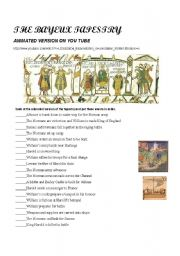 English Worksheet: The Bayeux Tapestry ( video )