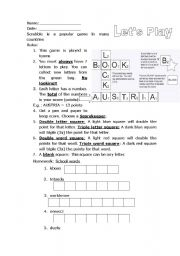 English Worksheets: How to play Scrabble