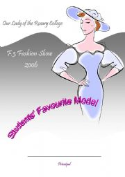 English Worksheets: Certificate_fashion show 1