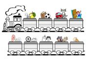 English Worksheet: Alphabets train
