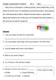 English Worksheets: Reading Comprehension Worksheet (2)
