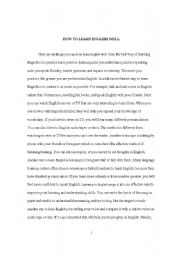 How to learn english essay