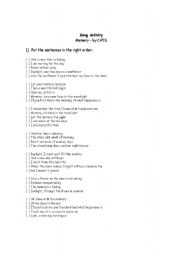 English Worksheets Memory Song Activity From The Musical Cats
