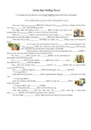 English Worksheets: Little Red Riding Wood and The Big Bad Wolf