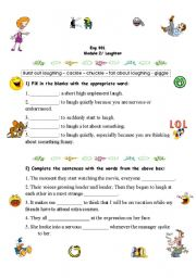 English Worksheets: Laughter