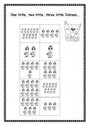 English Worksheet: Ten little Indians