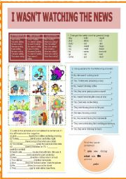 English Worksheets: I wasn�t watching the news
