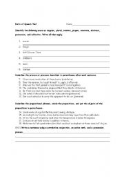 English Worksheets: Parts of Speech Test