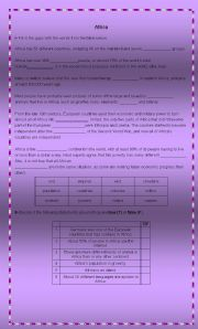 English Worksheets: Africa