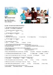 English Worksheet: a complete study of the film: Charlie and the chocolate factory, a classic by Road Dahl