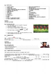 English Worksheet: a complete study of the film: Charlie and the chocolate factory