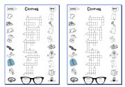 English Worksheet: CLOTHES - crosswords