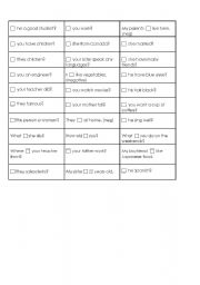 English worksheet: To be or do/does?