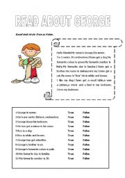 English Worksheets: truefalsereading