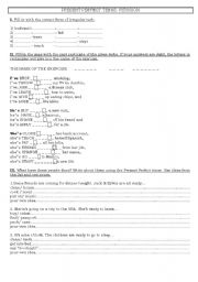 English worksheet: present perfect