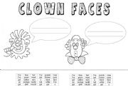English Worksheets: Clown Faces