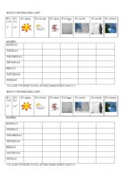 weather forecast worksheets. Black Bedroom Furniture Sets. Home Design Ideas