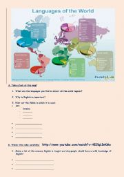 English Worksheet: English: a global language
