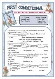 English Worksheets: first conditional