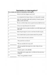 declarative and imperative sentences worksheet to practice types of ...