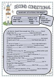 English Worksheet: second conditional