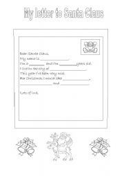 My letter to Santa (Christmas)