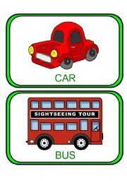 English Worksheet: TRANSPORT Flashcards
