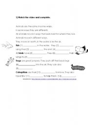 English Worksheets: HOW ANIMALS MOVE PART 2