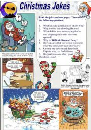 English Worksheets: Christmas Jokes (2/2)