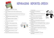 rephrasing reported speech