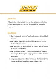 English Worksheets: Group study