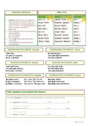 English Worksheet: Review - Verb TO BE, Indefinite articles, Affirmative, negative and interrogative statements