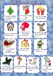 All these worksheets and activities for teaching Christmas rhymes have ...