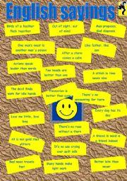 English Worksheets: English sayings