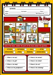 English Worksheet: THE HOUSE 1