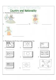 English worksheet: Country and Nationality