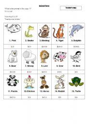 English Worksheets: Animal_farm_information_gap