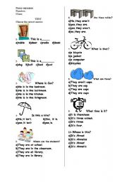 A Test for Grade 4, Primary School Students in Turkey - ESL ...