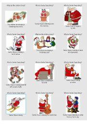 English Worksheet: Santa Claus and present continuous 2/2
