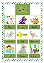 picture dictionary (K)