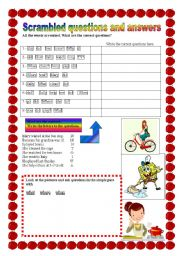 English Worksheets: Let�s ask questions