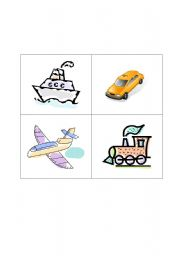 English Worksheet: Phrases connected to transport (boat, cab, plane, train)