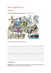 English Worksheet: There is or There are Zoo