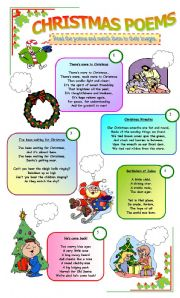 English Worksheets: CHRISTMAS POEMS