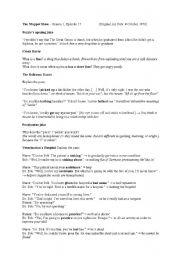 English worksheet: Muppet Show Analysis (Season 1, Episode 17)
